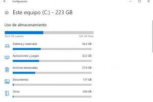 borrar archivos temporales en windows 10