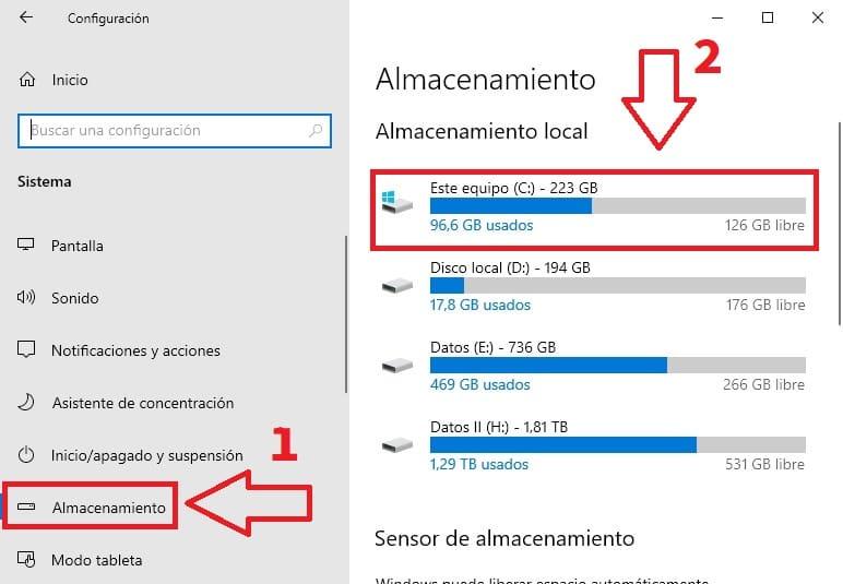quitar archivos temporales en windows 10