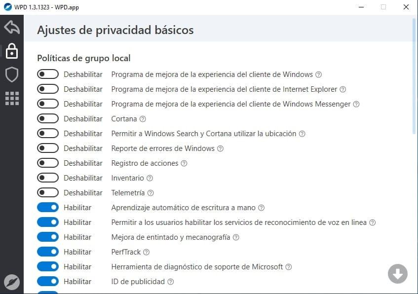 eliminar telemetria de windows 10
