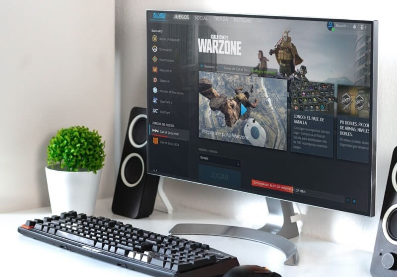 instalar call of duty warzone pc