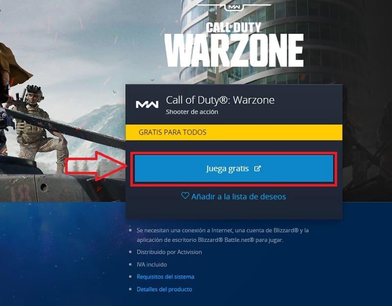 call of duty warzone juego cruzado