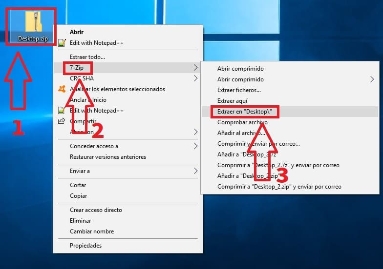 comprimir archivos con windows 10