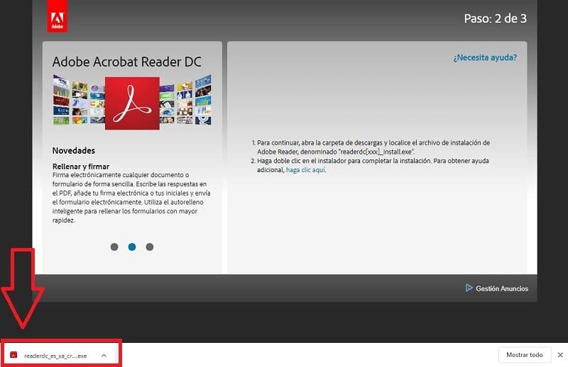 instalar adobe pdf gratis en español