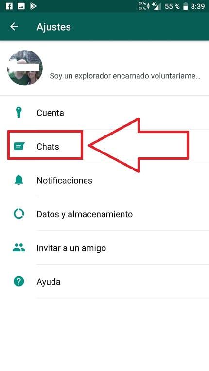 las letras del whatsapp se ven muy pequeñas
