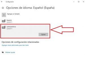 agregar idioma teclado windows 10