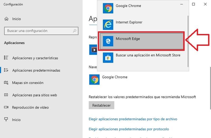 como cambiar buscador en windows 10