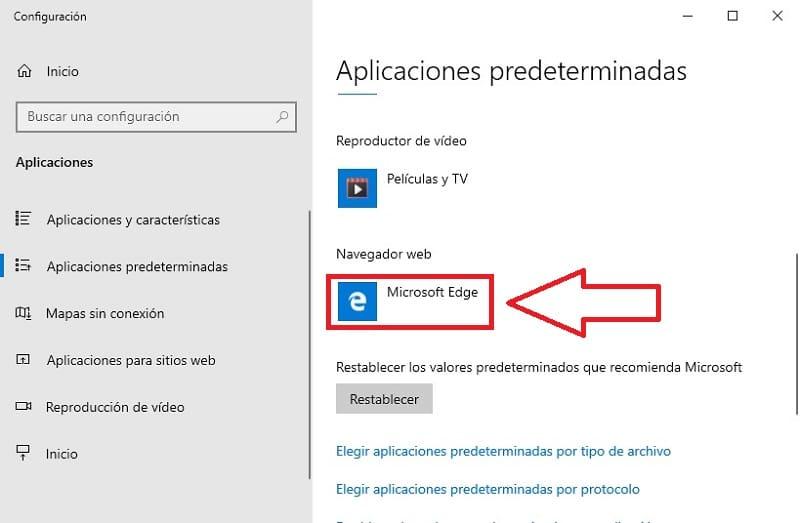elegir explorador predeterminado windows 10