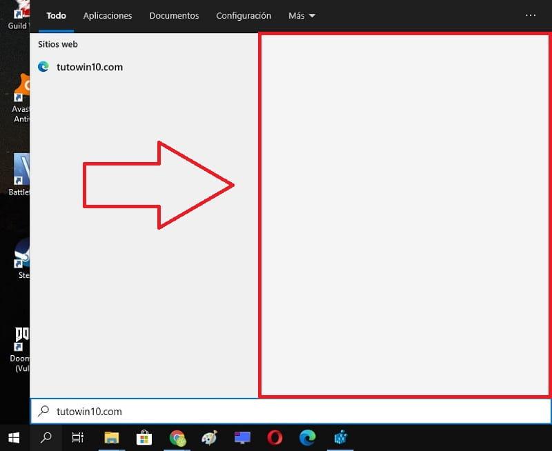 eliminar busquedas en menú de inicio windows 10.