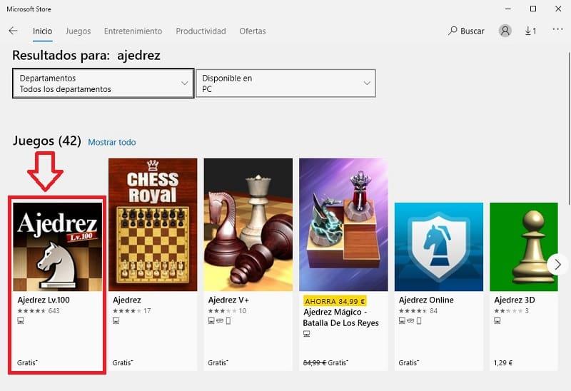 ajedrez windows 10 gratis