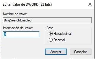 quitar bing de windows 10 edge