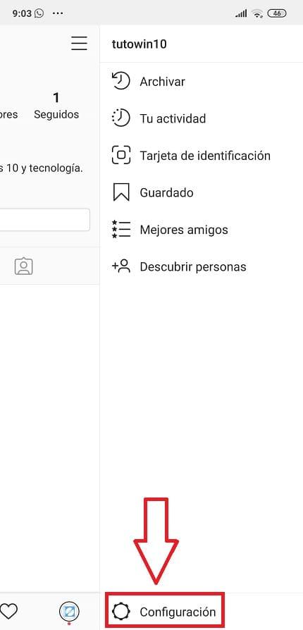 cambiar idioma instagram ordenador