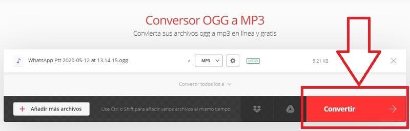 ogg a mp3 online gratis.