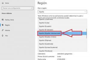 cambiar idioma windows 10 a español españa