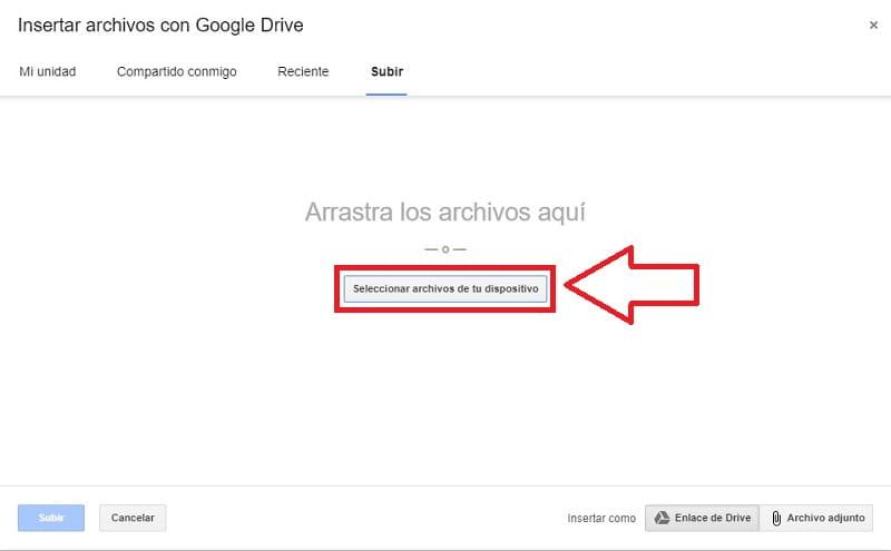 enviar archivos grandes por gmail