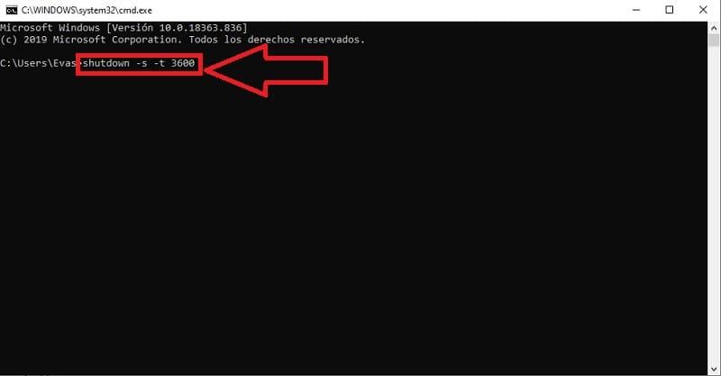 programar apagado windows 10 cmd