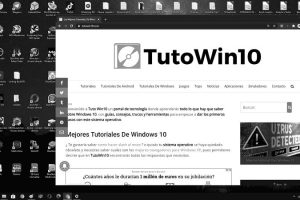 windows 10 blanco y negro solucion