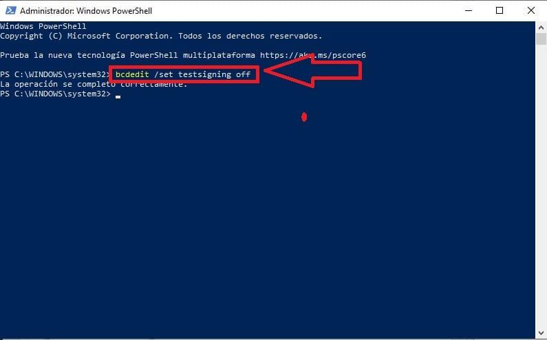 cómo instalar un controlador no firmado en windows 10