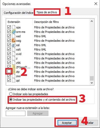 la indizacion de busqueda esta desactivada windows 10