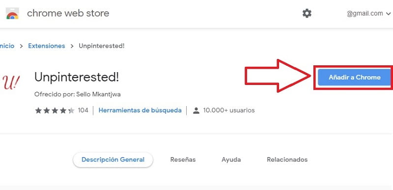 quitar Pinterest de Google