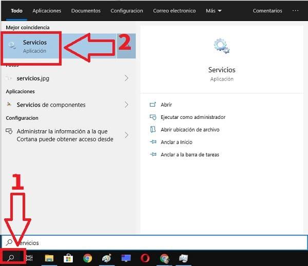 servicio de búsqueda de Windows