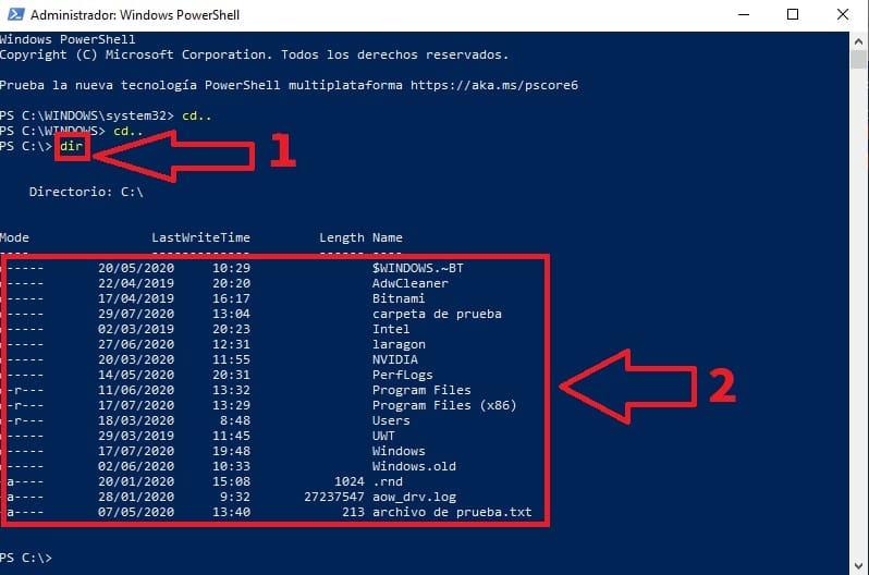 eliminar archivos desde cmd windows 10