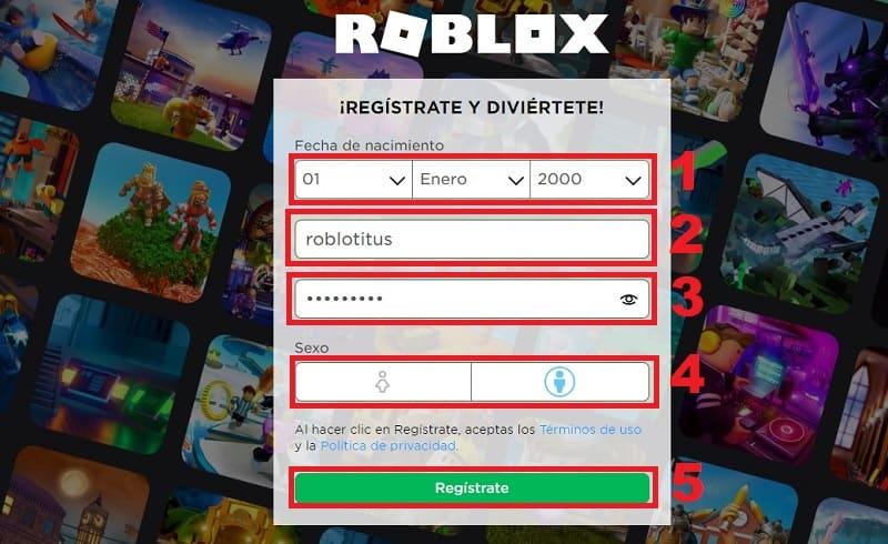 crear cuenta de roblox en pc.