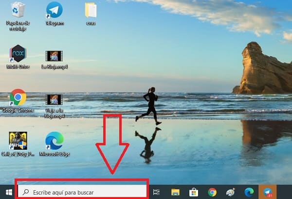 desactivar barra de busqueda windows 10