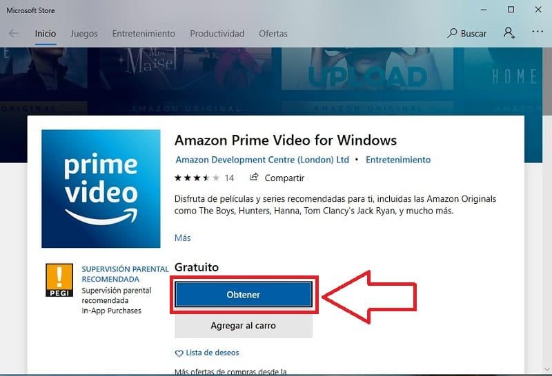 descargar amazon prime video para pc windows 10