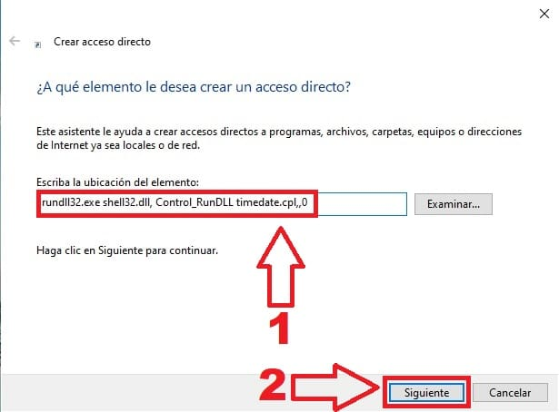 crear un acceso directo al calendario windows 10.