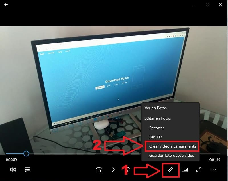 reproducir video camara lenta windows 10