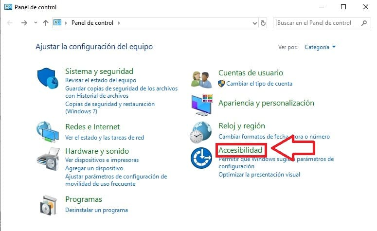 accesibilidad windows 10.