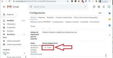 poner firma en Gmail PC