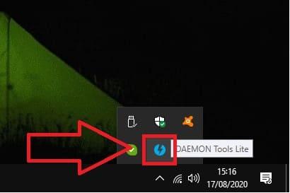 daemon tools imagen ya esta montada