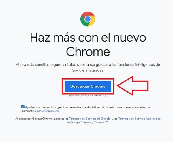 descargar google chrome.
