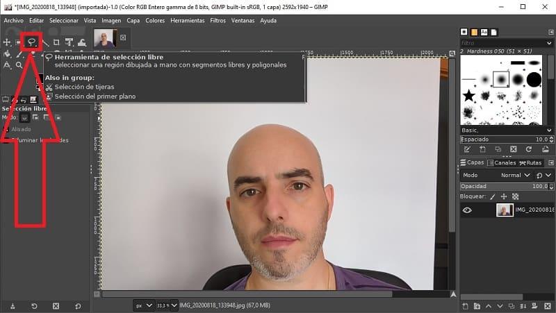 eliminar fondo blanco de una imagen gimp