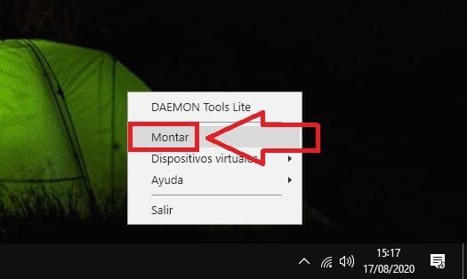 daemon tools montar imagen