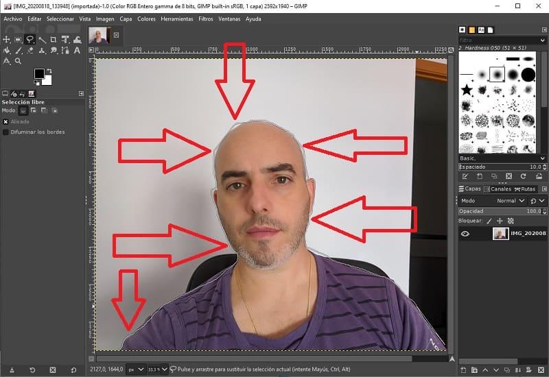 como quitar el fondo de una imagen con gimp 2.8