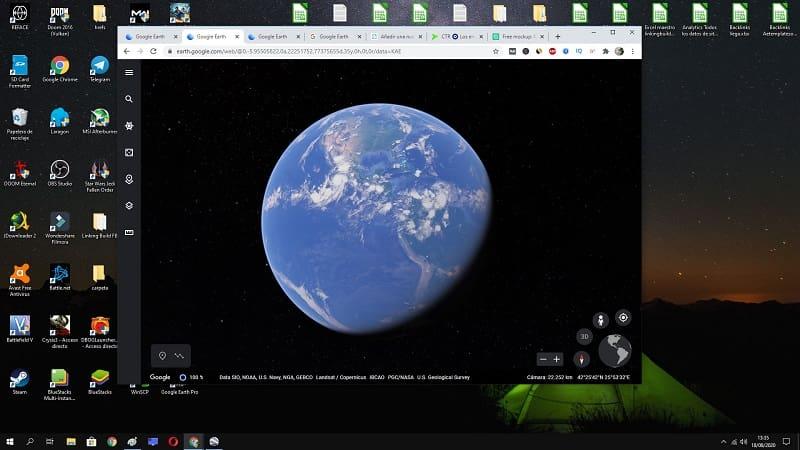 google earth formato web.