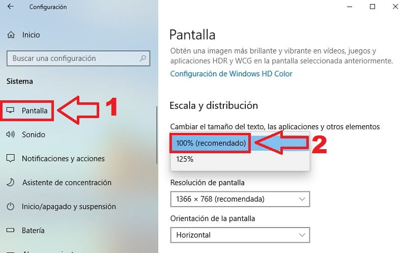 como poner pantalla completa en windows 10