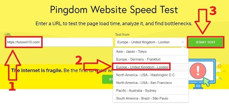 velocidad web test