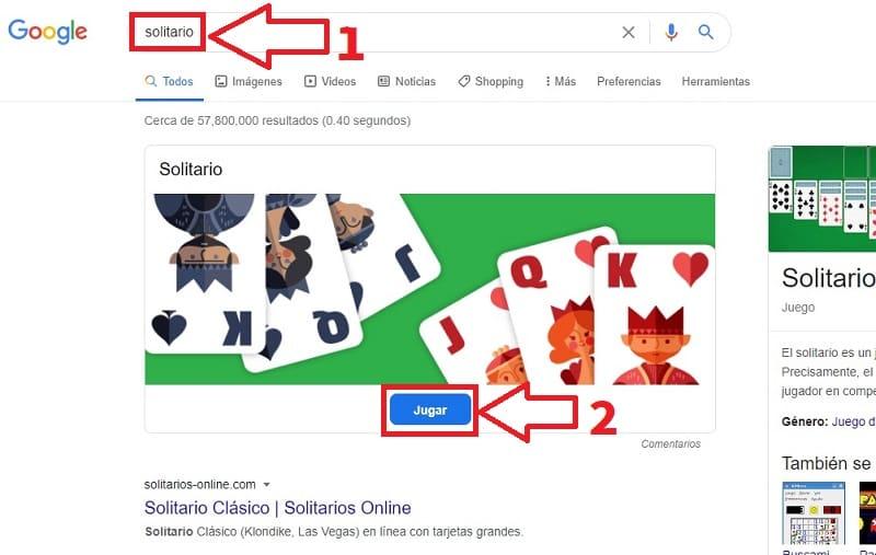 jugar solitario google