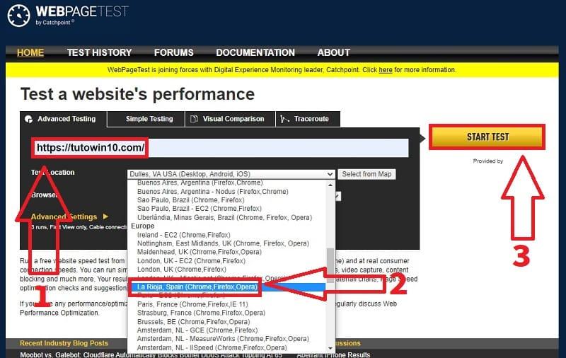 analisis velocidad web