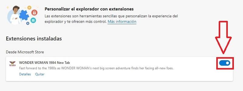 activar extensiones edge.