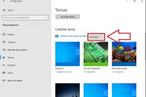 como eliminar temas windows 10