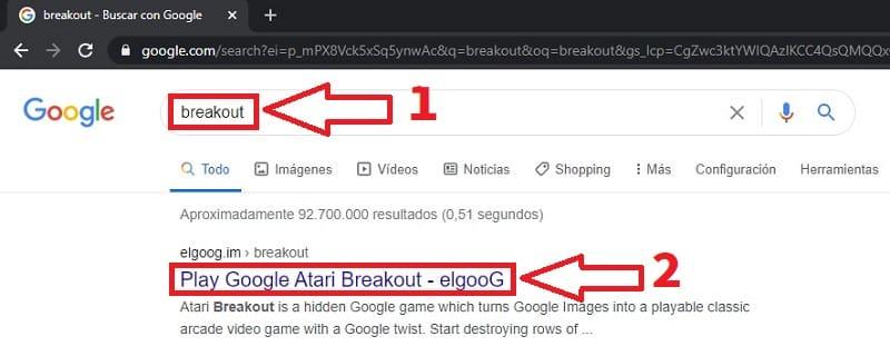 jugar breakout google