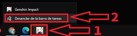 anclar programas a la barra de tareas
