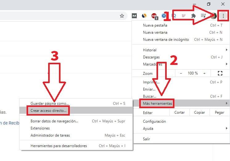 poner gmail en barra de tareas