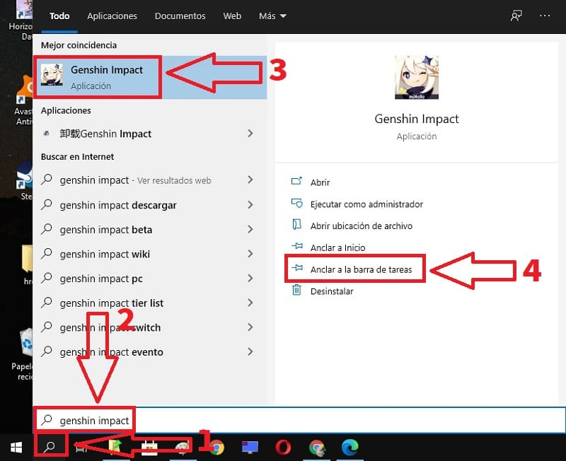 como anclar un programa ala barra de tareas en windows 10
