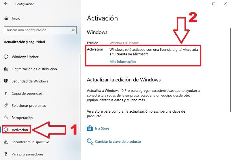 como saber mi licencia de windows 10