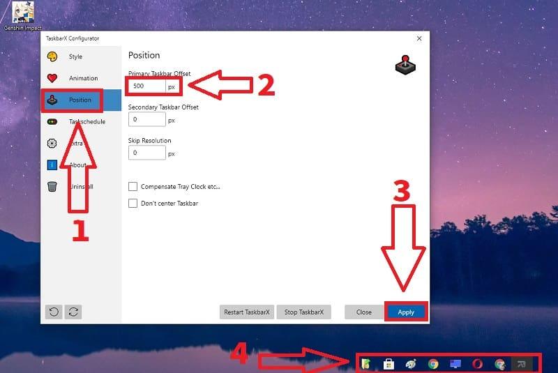 como modificar barra de tareas windows 10